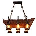 tanie Żyrandole-6 świateł Przemysłowy Lampy widzące Światło rozproszone Drewno / Bambus Styl MIni 110-120V / 220-240V Nie zawiera żarówek / E26 / E27