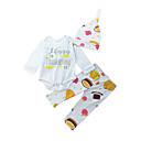 זול סטים של ביגוד לבנים-סט של בגדים כותנה שרוול ארוך דפוס חגים יום יומי / פעיל יוניסקס פעוטות
