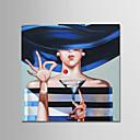 זול ציורי שמן-ציור שמן צבוע-Hang מצויר ביד - אנשים עכשווי מודרני בַּד