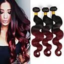 tanie Jeden plecak do włosów-3 zestawy 4 zestawy Włosy brazylijskie Body wave 10A Włosy virgin Ombre 10-26 in Ombre Ludzkie włosy wyplata Gorąca wyprzedaż 8a Ludzkich włosów rozszerzeniach