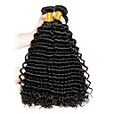 cheap Human Hair Weaves-3 Bundles Brazilian Hair Deep Wave Human Hair Natural Color Hair Weaves Human Hair Weaves Human Hair Extensions Women's