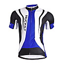 cheap Women's Sandals-Nuckily Men's Short Sleeve Cycling Jersey - Blue Geometic Bike Jersey Top Breathable Quick Dry Anatomic Design Sports Polyester Mountain Bike MTB Road Bike Cycling Clothing Apparel / Stretchy