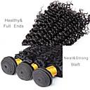 זול תוספות שיער בגוון טבעי-3 חבילות שיער ברזיאלי גל עמוק שיער בתולי טווה שיער אדם שוזרת שיער אנושי תוספות שיער אדם
