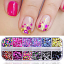 cheap Nail Glitter-1set Glitter Powder Sequins nail art Manicure Pedicure Sweet Style / Fashionable Jewelry / Classic Daily