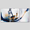 זול ציורי פרחים/צמחייה-ציור שמן צבוע-Hang מצויר ביד - מופשט מודרני בַּד