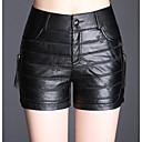 tanie Pielęgnacja psów-Damskie Bawełna Szorty Spodnie - Solidne kolory Czarny