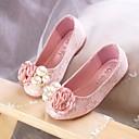 olcso Férfi félcipők-Lány Cipő Csipke Tavasz / Ősz Kényelmes / Virágoslány cipők Lapos mert Fehér / Rózsaszín