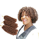 cheap Hair Braids-Braiding Hair Curly / Mali Twist Twist Braids Synthetic Hair 3pcs / pack Hair Braids Ombre Short New Arrival