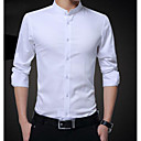 cheap Eye Kits & Palettes-Men's Cotton Shirt - Solid Colored Standing Collar / Long Sleeve