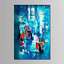 cheap Oil Paintings-Oil Painting Hand Painted - Abstract Comtemporary Simple Modern Canvas
