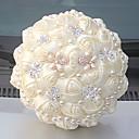 """זול פרחי חתונה-פרחי חתונה זרים חתונה שזירה קריסטל/אבן ריין מֶשִׁי 9.84""""(לערך.25ס""""מ)"""