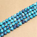 זול חרוזים-תכשיטים DIY 46 יח חרוזים אבני חן סינתטיות כחול עגול חָרוּז 0.8 cm עשה זאת בעצמך שרשראות צמידים