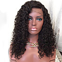 cheap Human Hair Wigs-Human Hair Glueless Lace Front / Lace Front Wig Brazilian Hair Curly / Water Wave Wig 150% Natural Hairline / Side Part / African American Wig Women's Human Hair Lace Wig