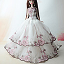 cheap Apparel For Barbie-Cute Dress For Barbie Doll Polyester Dress For Girl's Doll Toy