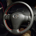 cheap Steering Wheel Covers-Steering Wheel Covers Genuine Leather 38cm Black / Red For Toyota Corolla All years