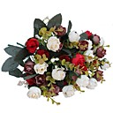 cheap Artificial Flower-Artificial Flowers 2 Branch Pastoral Style Roses Tabletop Flower