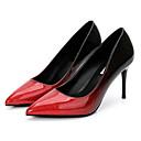 זול נעלי ילדים-בגדי ריקוד נשים נעליים PU אביב / סתיו בלרינה בייסיק עקבים עקב סטילטו בוהן מחודדת שחור / כסף / אדום / מסיבה וערב / שמלה / מסיבה וערב