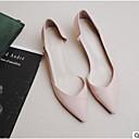 hesapli Moda Bileklikler-Kadın's Ayakkabı PU Bahar / Sonbahar Rahat Düz Ayakkabılar Düz Taban Sivri Uçlu / Kapalı Burun Dış mekan için Bej / Pembe