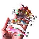 ieftine Fețe de Pernă-6 pcs Momeală moale Plastic Pescuit mare / Pescuit în General / Pescuit cu undițe tractate & Pescuit din barcă
