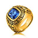 זול Fashion Ring-בגדי ריקוד גברים זירקונה מעוקבת טבעת הצהרה - פלדת על חלד, זירקון אופנתי 8 / 9 / 10 זהב / כסף עבור Party / טקס