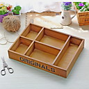 cheap Bins & Containers-Wood-plastic board Envelope / Rectangular Multifunction Home Organization, 1pc Storage Cabinets