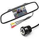 cheap Car Exterior Lights-ZIQIAO 5 Inch Digital TFT LCD Mirror Monitor and 8LED CCD HD Car Rear View Camera
