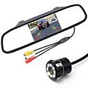 ieftine DVR Mașină-ziqiao 5 inch digital tft lcd monitor de oglindă și 8LED cdd hd mașină de vedere spate camera