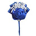 """זול פרחי חתונה-פרחי חתונה פרחי דש חתונה מסיבה מֶשִׁי 3.94""""(לערך.10ס""""מ)"""