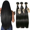 זול פתרון חפיסה אחת-3 חבילות שיער ברזיאלי ישר שיער אנושי טווה שיער אדם 8-28 אִינְטשׁ שוזרת שיער אנושי אופנתי תוספות שיער אדם