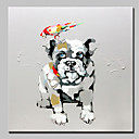 cheap Oil Paintings-Mintura® Hand-Painted Animals Dog Oil Painting On Canvas Modern Abstract Wall Art Picture For Home Decoration Ready To Hang