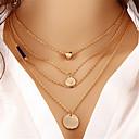 זול שרשרת אופנתית-בגדי ריקוד נשים שכבות שרשראות Layered - לב אופנתי, שכבות מרובות זהב שרשראות תכשיטים 1 עבור מתנה, רחוב