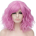 cheap Synthetic Capless Wigs-Synthetic Wig Water Wave Blonde Synthetic Hair Red / Blue / Blonde Wig Women's Short Capless / Pink