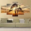 cheap Rolled Canvas Prints-Rolled Canvas Prints Comtemporary, Five Panels Canvas Square Print Wall Decor Home Decoration