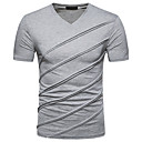 cheap Men's Slip-ons & Loafers-Men's Basic / Street chic Slim T-shirt - Solid Colored V Neck / Short Sleeve / Spring / Summer