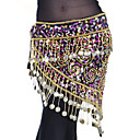 cheap Dance Accessories-Belly Dance Ordinary Women's Training Polyester Belt Paillette Tassel Hip Scarf