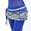 זול אביזרי ריקוד-ריקוד בטן רגיל בגדי ריקוד נשים הדרכה פוליאסטר חגורה Paillette צעיף מותניים לריקודי בטן