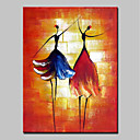 cheap Oil Paintings-Mintura® Hand-Painted Abstract Ballerina Oil Paintings On Canvas Modern Wall Art Picture For Home Decoration Ready To Hang