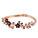 cheap Rings-Women's Crystal / Cubic Zirconia Bangles - Rose Gold, Crystal, Zircon Floral / Botanicals, Flower Fashion Bracelet Gold For Party / Formal