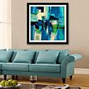 זול אומנות ממוסגרת-מופשט איור וול ארט,פלסטיק חוֹמֶר עם מסגרת For קישוט הבית אמנות מסגרת סלון