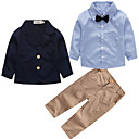 cheap Baby Boys' Clothing Sets-Toddler Boys' Active Party / School Solid Colored Long Sleeve Cotton Clothing Set