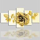 baratos Impressões-Tela de impressão Clássico Modern, 5 Painéis Tela de pintura Horizontal Estampado Decoração de Parede Decoração para casa