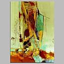 זול הדפסים-ציור שמן צבוע-Hang מצויר ביד - מופשט עכשווי בַּד
