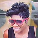זול ציורי שמן-שיער ללא שיער שיער אנושי מתולתל פיקסי קאט פאה אפרו-אמריקאית הוכן באמצעות מכונה פאה