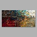 זול מקרנים-ציור שמן צבוע-Hang מצויר ביד - מופשט מודרני כלול מסגרת פנימית / בד מתוח