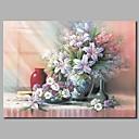 tanie Obrazy: motyw ludzi-Hang-Malowane obraz olejny Ręcznie malowane - Martwa natura Zabytkowe Brezentowy / Rozciągnięte płótno