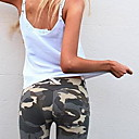 cheap Jewelry Sets-Women's Normal Medium Waist Micro-elastic Slim Pants,Sexy Camouflage Polyester Spring/Fall