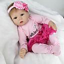hesapli Yeniden Doğmuş Bebekler-NPKCOLLECTION NPK DOLL Yeniden Doğmuş Bebekler Kız Bezi Kız Bebeklerin 22 inç Silikon Vinil - canlı Tatlı El Yapımı Çocuk Kilidi Non Toxic Sevimli Kid Genç Kız Oyuncaklar Hediye / CE / Disket kafa