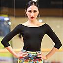 cheap Latin Dance Wear-Latin Dance Tops Women's Performance Cotton Modal Ruching 3/4 Length Sleeves Top