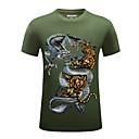 baratos Tinta para Tatuagem-Homens Camiseta Básico Moda de Rua Estampado,Geométrica Animal