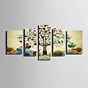 tanie Wydruki-Wydruki na rozciągniętym płótnie Nowoczesny, Pięć paneli Brezentowy Pionowy Wydrukować wall Decor Dekoracja domowa